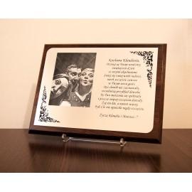 Srebrny certyfikat A4 z okazji Rocznicy Ślubu