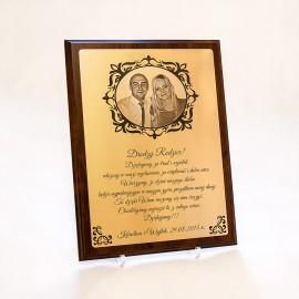 Złoty certyfikat A4 z okazji Rocznicy Ślubu