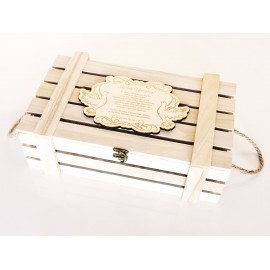 Prezent dla Nowożeńców- drewniana skrzynka