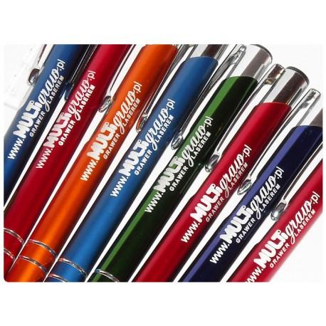 50 metalowych długopisów z grawerem