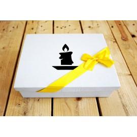 Ozdobne pudełko- świeca