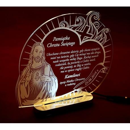 Statuetka Jezus, podświetlenie LED