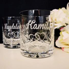 Kryształowe szklanki z grawerem
