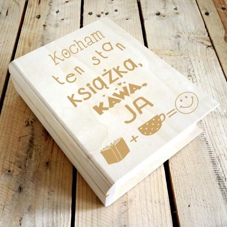 Drewniane pudełko na książkę