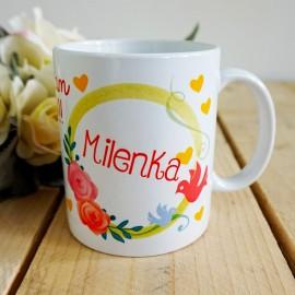 Ceramiczny kubek- wzory miłosne