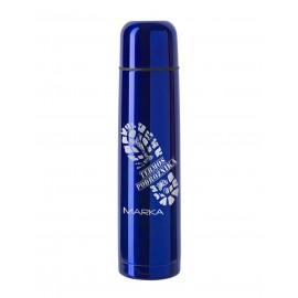 Niebieski termos z grawerem- 1000 ml