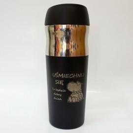Czarny kubek termiczny Air Gifts 400 ml