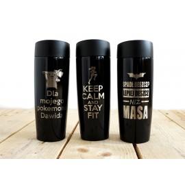 Czarny kubek termiczny Air Gifts 320 ml