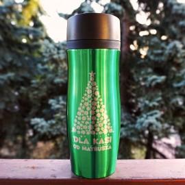 Zielony kubek termiczny  Air Gifts 350 ml