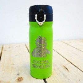 Zielony kubek termiczny Air Gifts 330 ml
