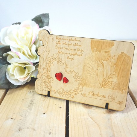 Romantyczna deseczka ze zdjęciem