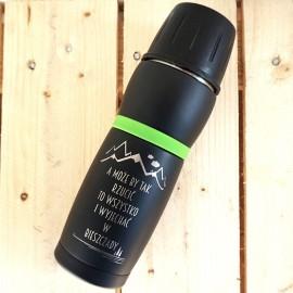 czarny kubek termiczny Air Gifts 450 ml