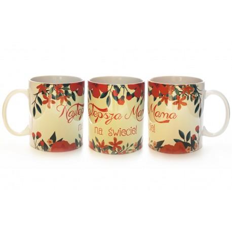 Piękny ceramiczny Kubek z nadrukiem