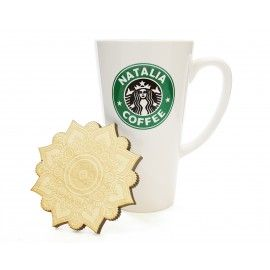 Kubek latte 500 ml, z Twoim nadrukiem