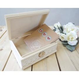 Ślubny Album na zdjęcia w szkatułce z Twoim grawerem