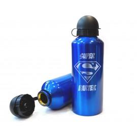 Niebieski, metalowy bidon sportowy- 650 ml