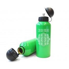 Zielony, metalowy bidon sportowy- 650ml