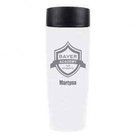 Hurtowa oferta dla BAYER - białe kubki termiczne z logo