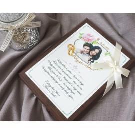 Prezent ślubny- deska