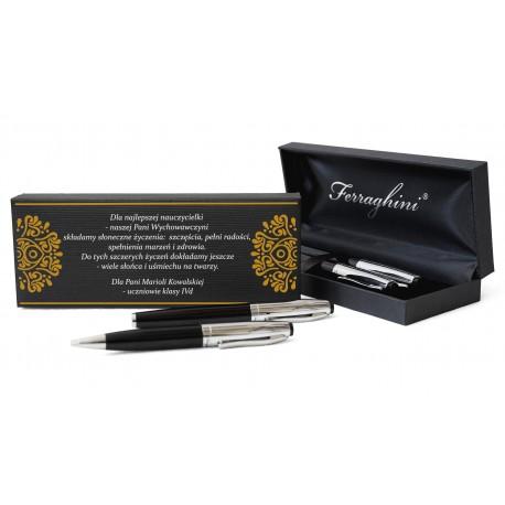 Pióro i długopis w eleganckim etui