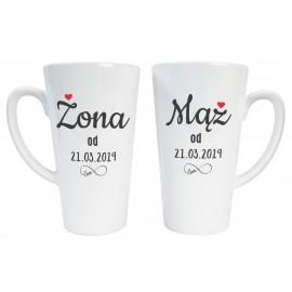 2 duże kubki latte