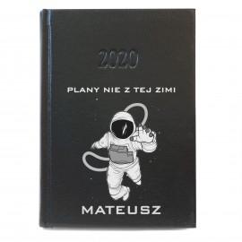 Czarny kalendarz 2020 z nadrukiem