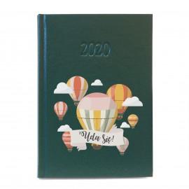 Zielony kalendarz z nadrukiem