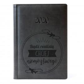 Czarny kalendarz 2020 z grawerem
