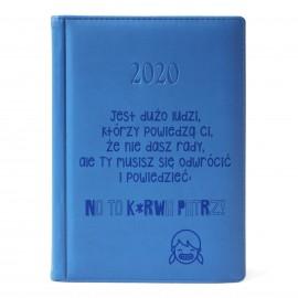 Niebieski kalendarz 2020 z grawerem