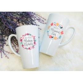 Zestaw kubków latte dla BABCI i DZIADKA