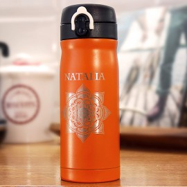 Pomarańczowy kubek termiczny Air Gifts 330 ml