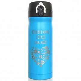 Niebieski kubek termiczny Air Gifts 330 ml