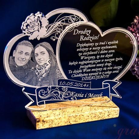 Podziękowania dla rodziców Prezent ślubny, marmur