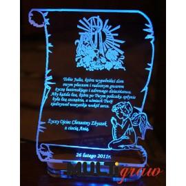 Statuetka pergamin z podświetleniem