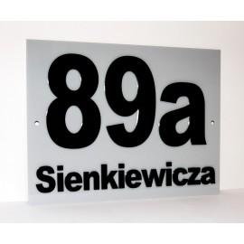 Akrylowa tablica- 30x20 cm, numer domu, logo