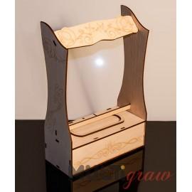 Drewniany postument na statuetkę